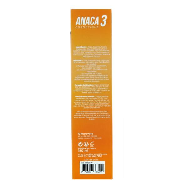 Anaca3 Crème minceur spécial ventre plat - Brûleur de graisse