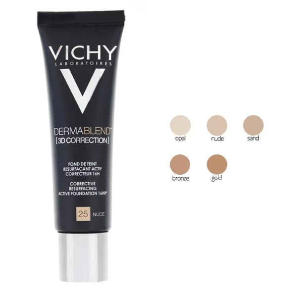 Vichy Dermablend 3d Correction Fond De Teint 30ml Peaux Acnéiques
