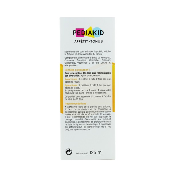 Pediakid appétit tonus sirop 125 ml - Phytothérapie