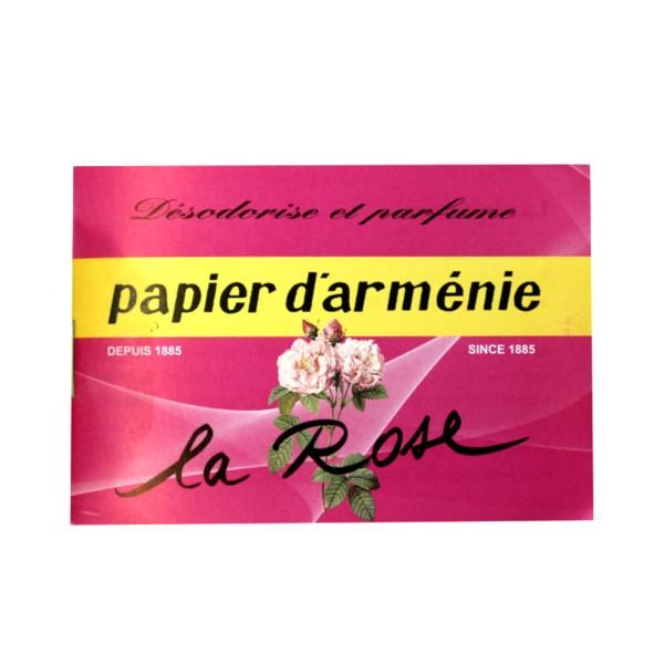 Papier D Armenie Rose 36 Lamelles Desodorisant Et Parfumant