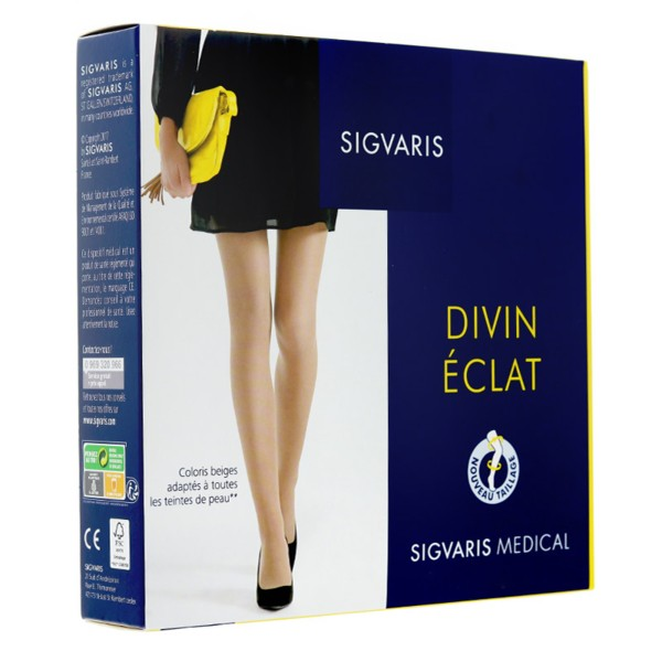 best loved official store professional sale Sigvaris Divin Eclat Collant de contention Pieds ouverts Femme Classe 2