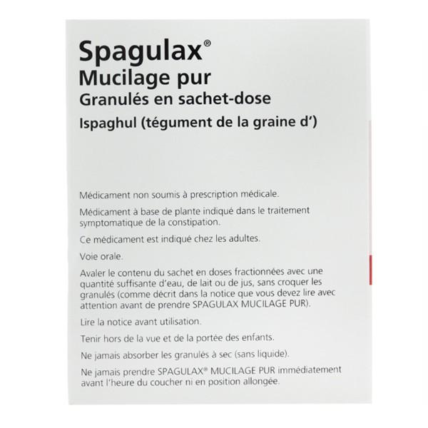 Spagulax Mucilage pur granulés 20 sachets - Laxatif de ...