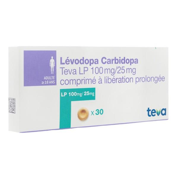 Lévodopa Carbidopa Teva LP 100mg/25mg comprimé - Maladie de Parkinson