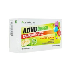 Azinc énergie taurine + vitamine C comprimés à croquer