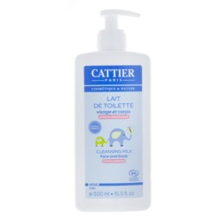 Cattier Bébé lait de toilette bio