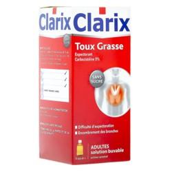Clarix sirop expectorant toux grasse adulte