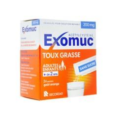 Exomuc 200 mg toux grasse granulés