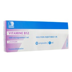 Lavoisier vitamine B12 1000 µg / ml 10 ampoules