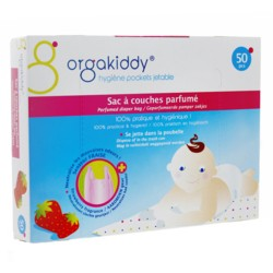 Orgakiddy sac à couches parfum fraise