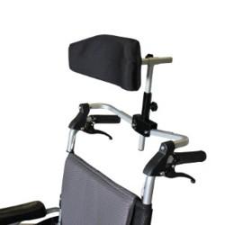 Appui tête réglable multiposition et pliant pour fauteuil roulant