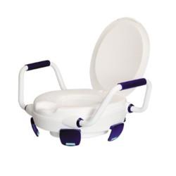Rehausse WC Clipper V avec couvercle et accoudoirs