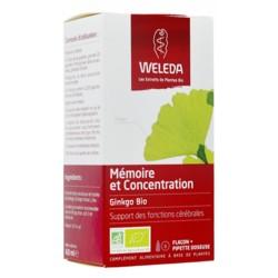 Weleda Mémoire et Concentration extrait Bio Gingko